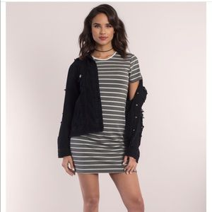 Tobi Dresses - Mini stripe shift dress